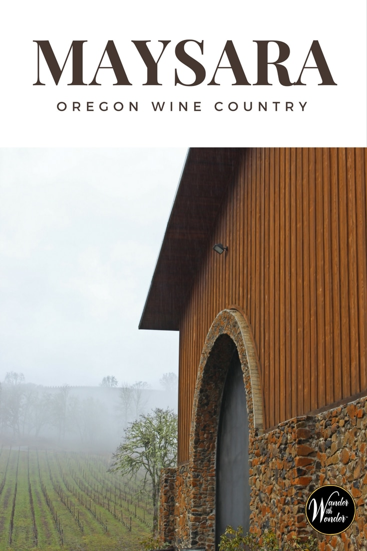 A visit to the Oregon Wine Country in the McMinnville area is not complete without a stop at the rustically elegant Maysara Winery.