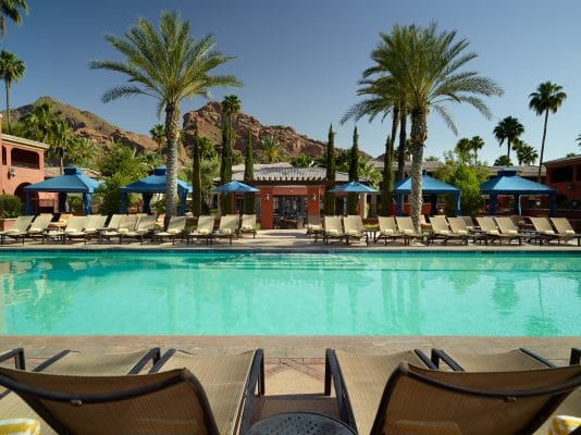 Enjoy the Oasis Pool at Omni Montelucia. Photo courtesy Omni Scottsdale Resort & Spa at Montelucia