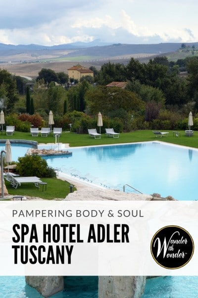 It is easy to see why the 5-star Spa Hotel Adler Thermae Wellness & Spa Resort is one of Italy's leading wellness hotels. It is the perfect way to end a trip to Italy—and an adventure all onto itself in the heart of Tuscany.