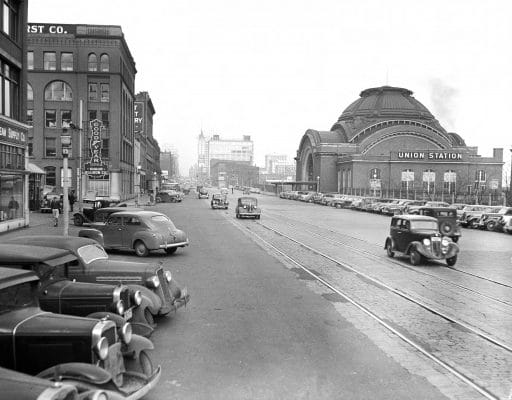 Tacoma Union Station and Pacific Ave 1941