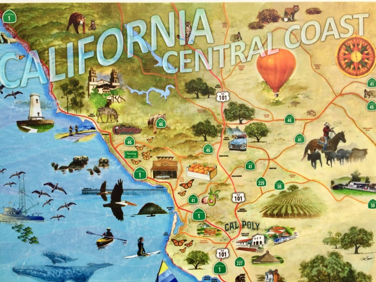 The Best of California Highway One Discovery Route California Highway One Map on