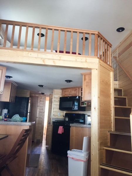 Sheltered Nook Bay City Oregon tiny house