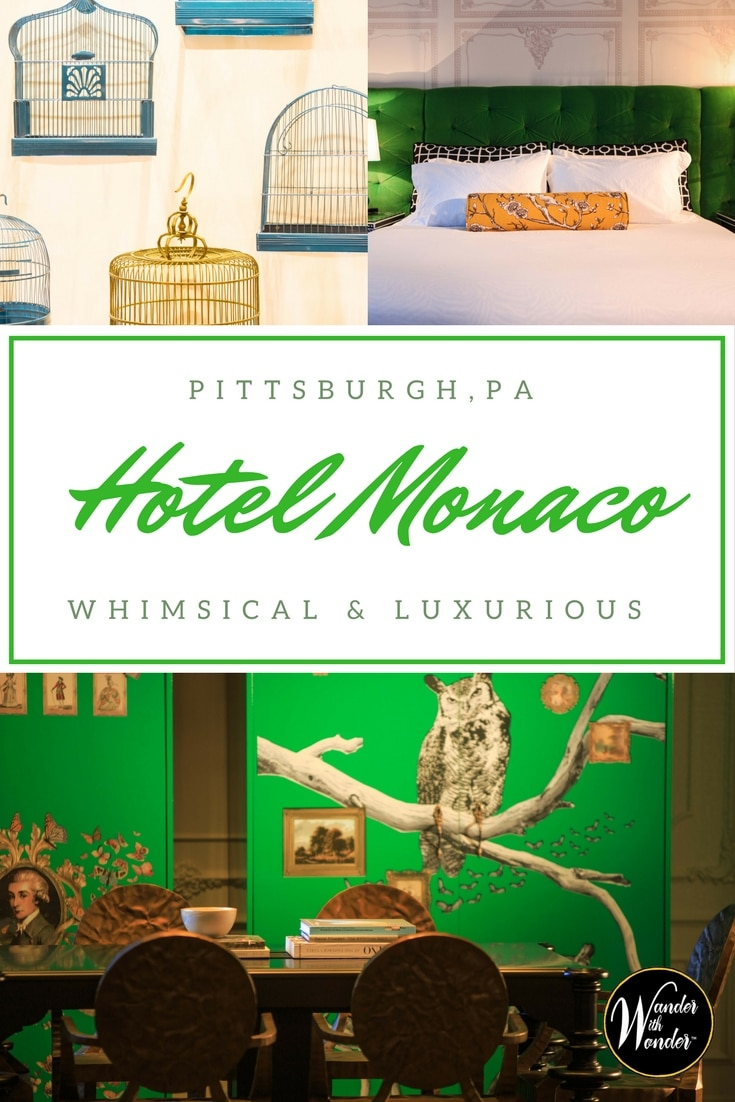 From the moment I arrived at the Hotel Monaco Pittsburgh, I was caught up in the history and whimsy of the place. It's ideal base for wandering Pittsburgh.
