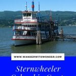 The Sternwheeler, Columbia Gorge, spends summer months taking tourists, diners and partygoers on the Columbia River from its dock at Cascade Locks, Oregon.
