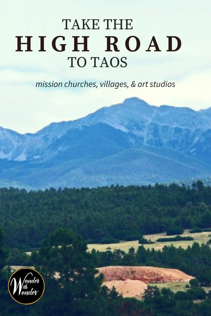 Take the High Road to Taos and encounter mission churches, little villages, farms and art studios that Northern New Mexico has to offer.
