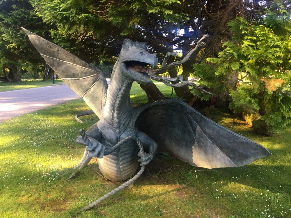 Lloyd Le Blanc dragon - Lough Eske Castle