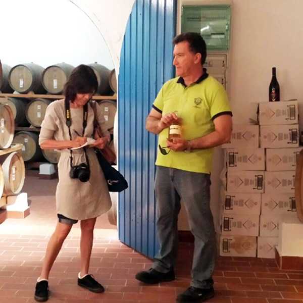 Taking Notes with Winemaker Nikos Varvarigos - Santorini Wineries
