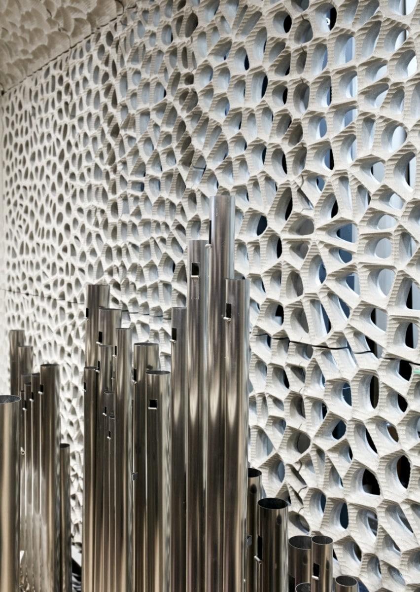 Hamburg concert hall, organ pipes