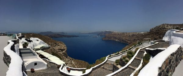 View from Venetsantos Winery - Santorini Wineries