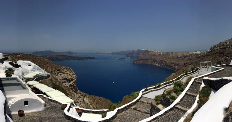 View from Venetsantos Winery in Santorini Santorini Wineries