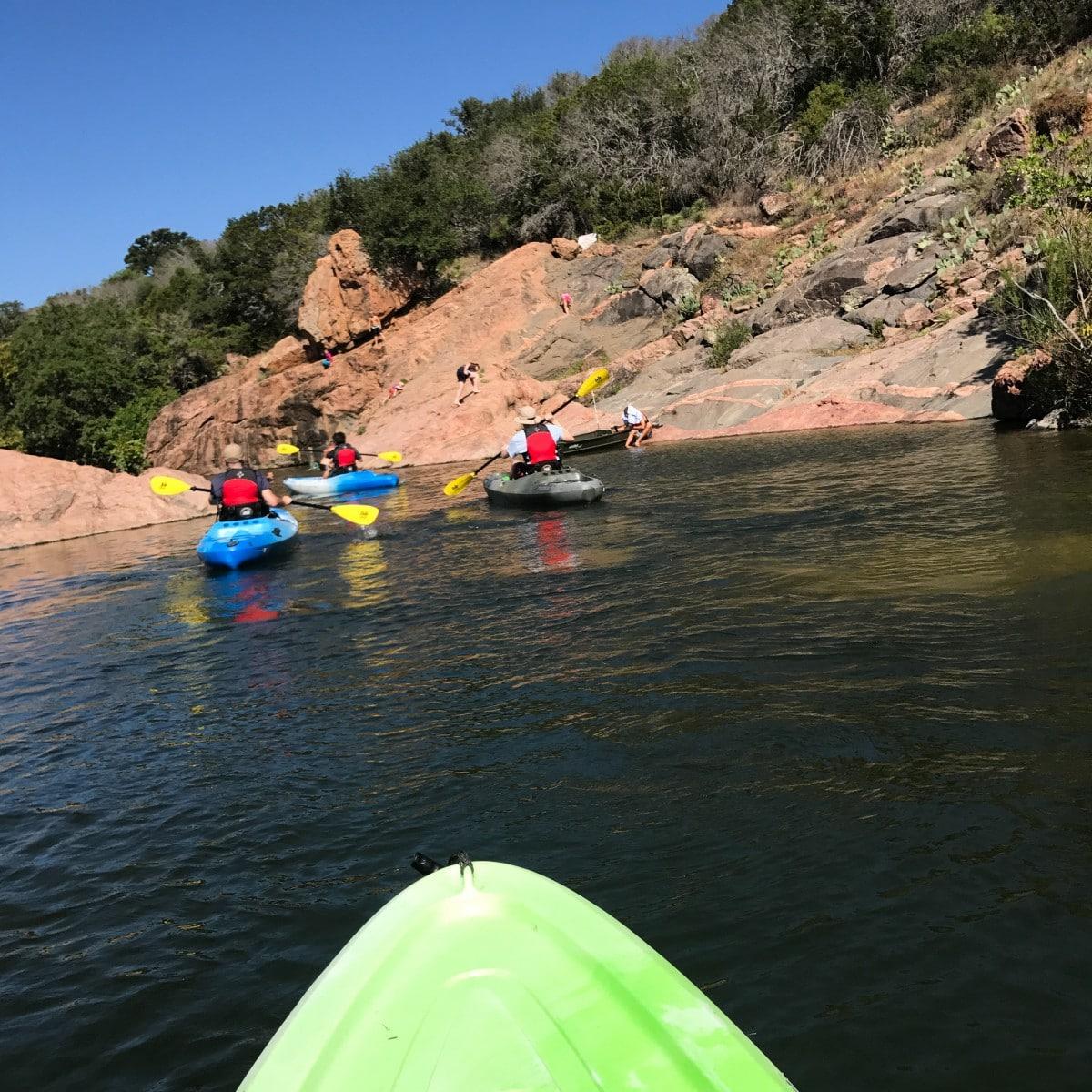 Burnet County, Texas kayaking