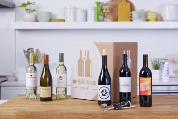 You can get monthly wine service from Hello Fresh. Photo courtesy Hello Fresh