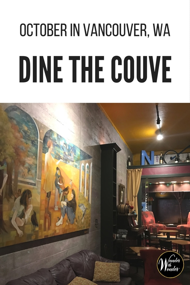 Dine the Couve is all of October in Vancouver, WA. Located just across the border from Portland, OR, sample culinary delights of the Pacific Northwest.