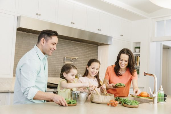 Families can cook together with the Home Chef delivery. Photo courtesy Home Chef