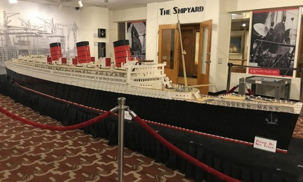 LEGO model of The Queen Mary. Photo by Susan Lanier-Graham
