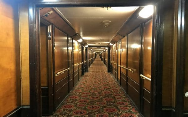 Deck A on the RMS Queen Mary. Photo by Susan Lanier-Graham