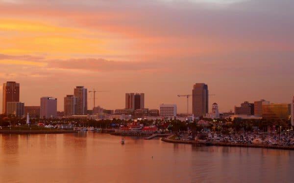 Sunset over Long Beach. Photo by Susan Lanier-Graham