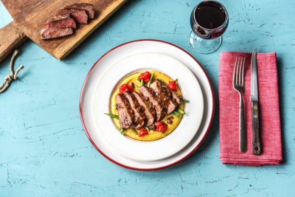 NY Strip Steak with Balsamic Reduction from Hello Fresh. Photo courtesy Hello Fresh
