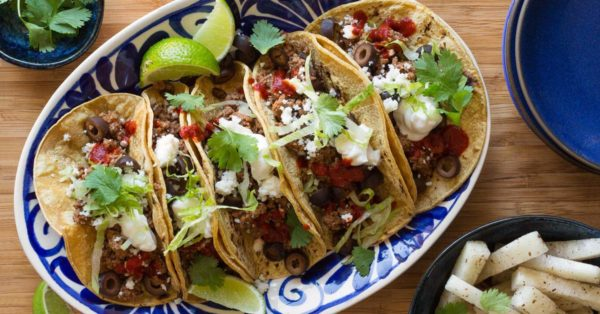 Tex-Mex Beef Tacos from the Sun Basket family menu. Photo courtesy Sun Basket