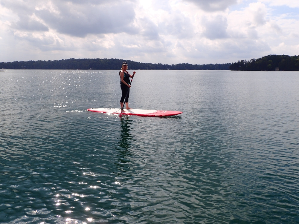 Elkhart Lake paddle boarding