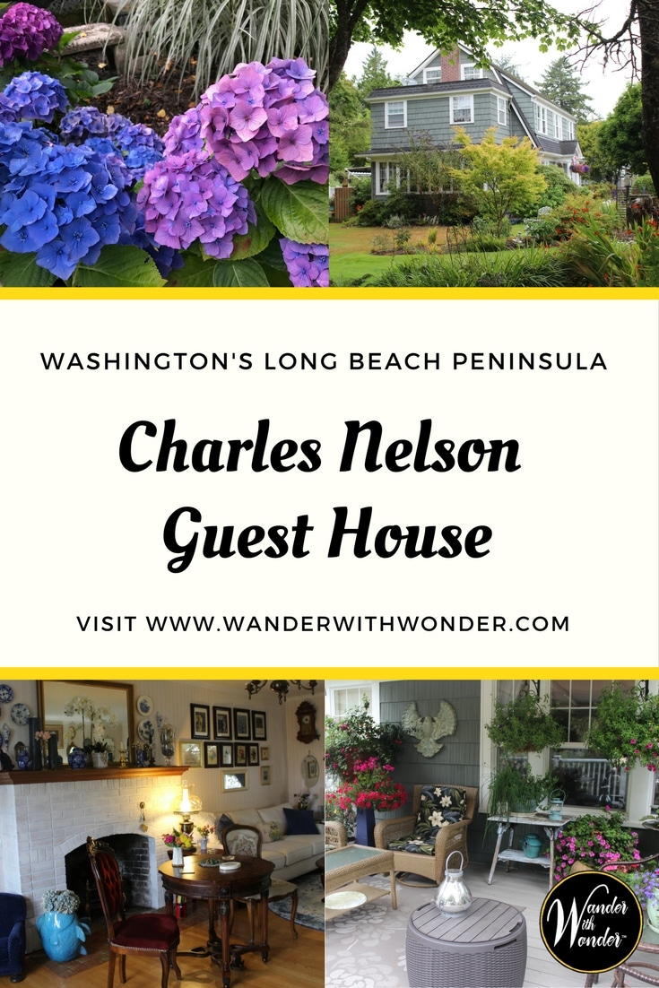 Enjoy a historic bayside retreat at Charles Nelson Guest House on Washington's Long Beach Peninsula, just steps from the oyster-laden shores of Willapa Bay.