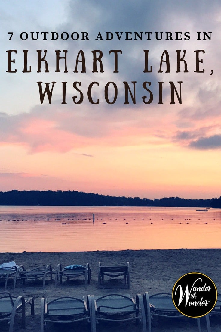 Elkhart Lake, WI is the idyllic Midwestern lake resort and an important part of American racing history. Here are 7 ways to get outdoors in Elkhart Lake. #Elkhart #Wisconsin #family #travel #lakes #resorts #adventure