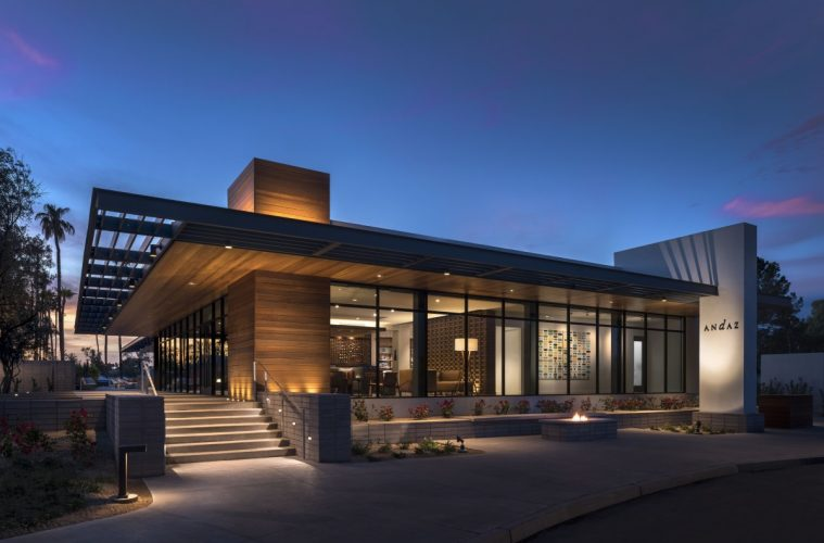Exterior Guest House at Andaz Scottsdale. Photo courtesy Andaz Scottsdale Resort & Spa