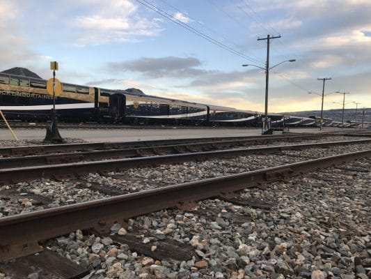 The railyard at Kamloops where all the behind-the-scenes magic happens for Rocky Mountaineer. Photo by Susan Lanier-Graham