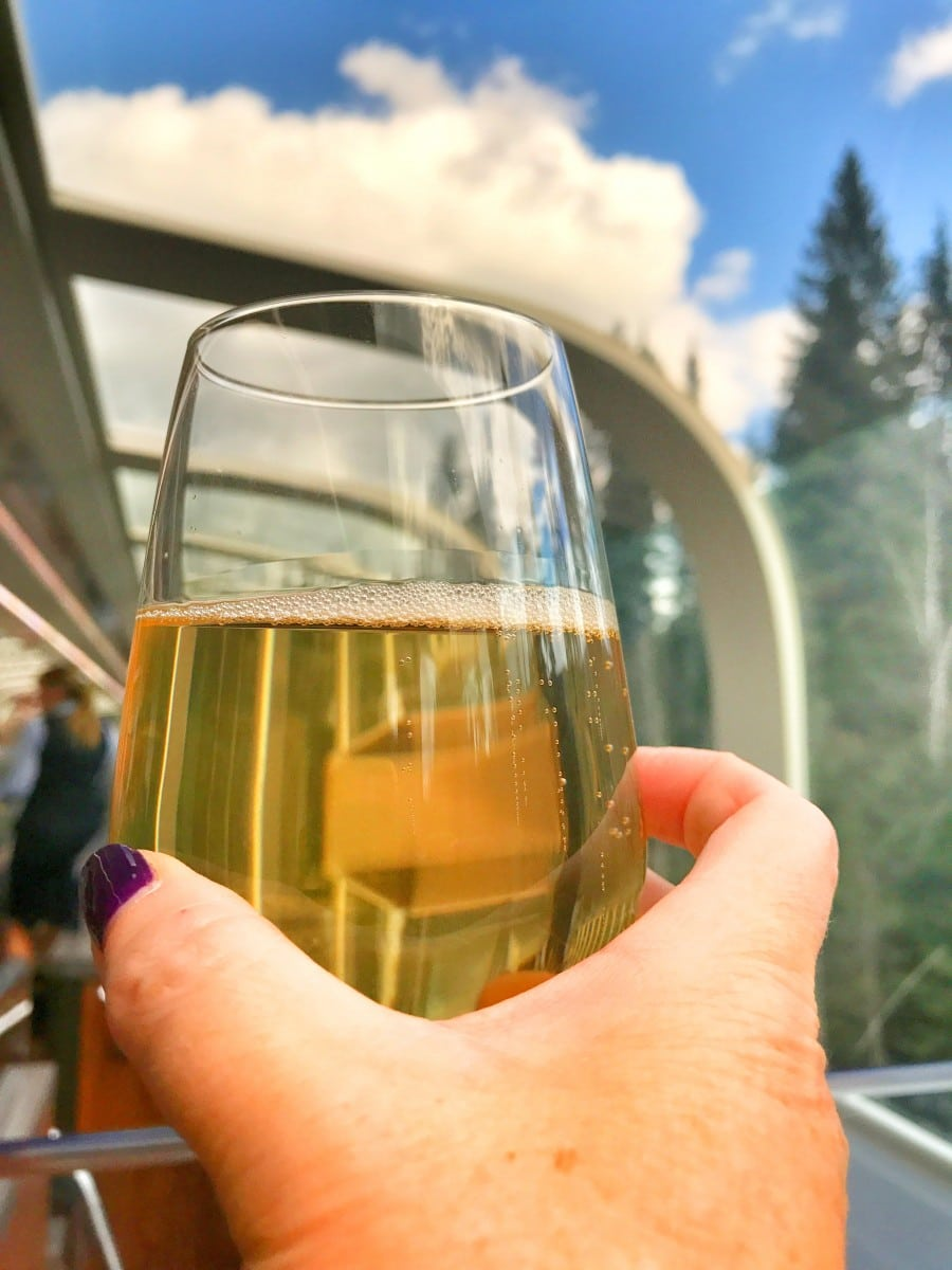 I took those lovely endless glasses of bubbly for granted until I met the men and women responsible for keeping everything running smoothly on Rocky Mountaineer. Photo by Susan Lanier-Graham