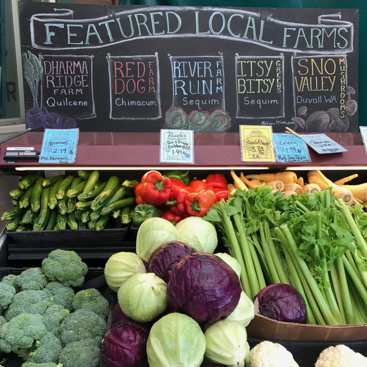 Nash's Organic Produce in Sequim Washington