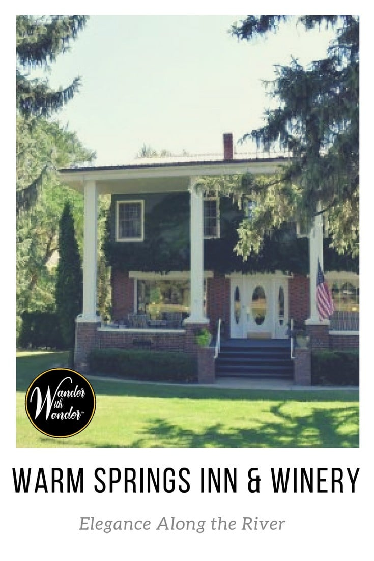 Warm Springs Inn & Winery is a luxurious Wenatchee, WA inn offering guests wine tastings, culinary delights and riverside relaxation.