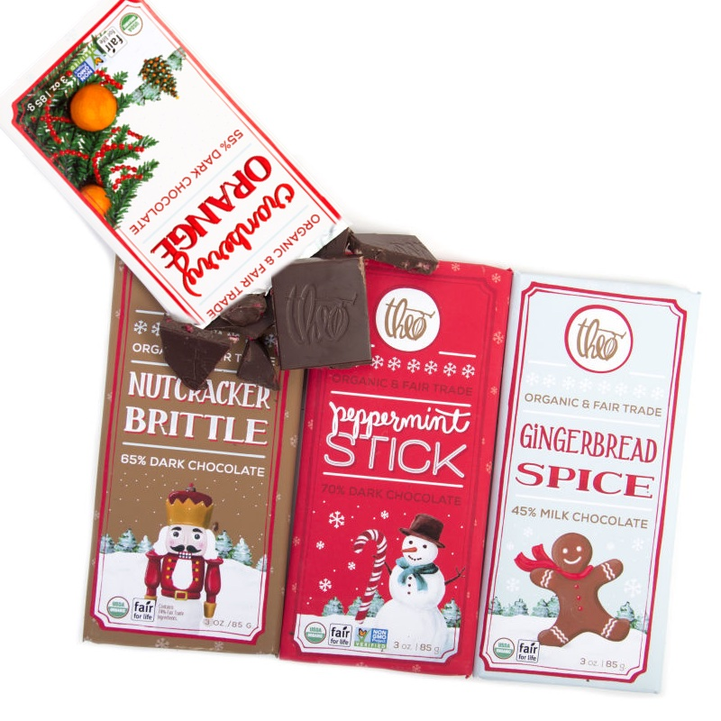 Theo Chocolate Holiday Bars