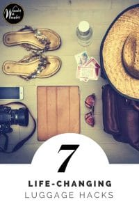 Packing luggage is becoming more challenging. Here are 7 life-changing luggage hacks that take the headache out of your trip. #packing #travel #luggagehacks #travelhacks #wander