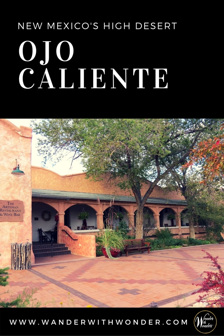 Ojo Caliente Mineral Springs Resort & Spa, located in the high desert, northwest of Santa Fe, is famous for its hot, mineral-rich waters and relaxing spa. #spa #hotsprings #springs #bath #santafe #newmexico #nm #desert #southwest