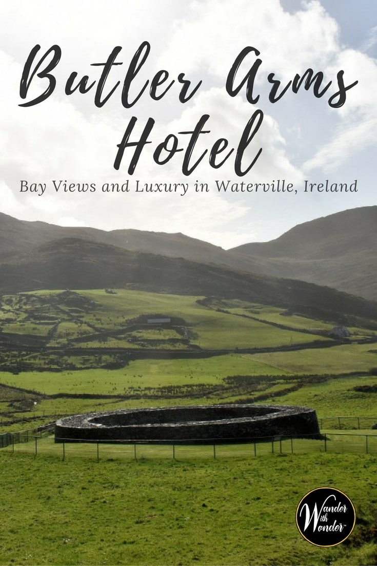 Explore the luxury boutique Butler Arms Hotel. Located in the resort village of Waterville, it's on Ireland's rugged Wild Atlantic Way on the Ring of Kerry. #Ireland #luxury #boutique #hotel #wander #europe #Ringofkerry #WildAtlanticWay