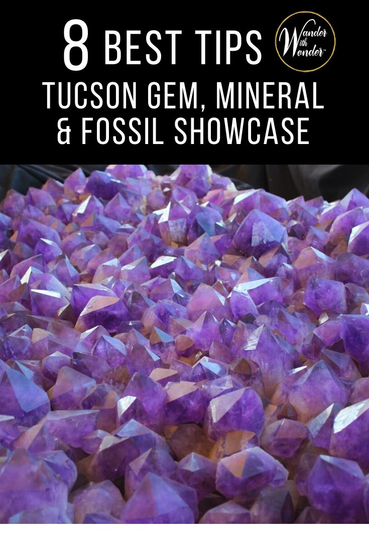 8 Things to Know About the Tucson Gem, Mineral and Fossil Showcase. The Tucson Gem Show is part trade-show, retail extravaganza, museum exhibition, cultural festival, and a whole lot of retail therapy. #Tucson #visittucson #gemshow #TucsonGemAndMineralShow #Arizona #gems #fossils