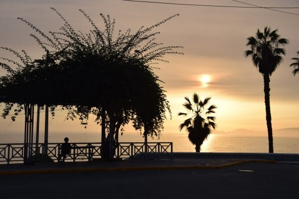 Sunset in Barranco district