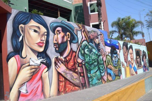 Barranco district street murals