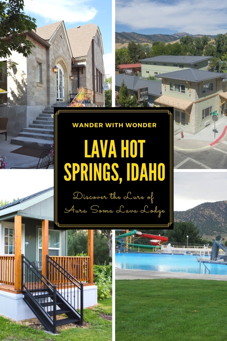 It's an unassuming town when you first drive down its main drag. But Lava Hot Springs, located in the southeast corner of #Idaho, fools you with its first impression. As does Aura Soma Lava Lodge. You find yourself thinking you could live there without really knowing why. Check out this #yearround #familytravel destination. #wellnesstravel #travel #wellness #hotsprings #family #spa