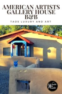 Wander Taos, New Mexico and enjoy the comforts of the American Artists Gallery House B&B. This is a quiet haven filled with quintessential Northern New Mexico charm. #Taos #NewMexico #B&B #Artists #Wander #Travel