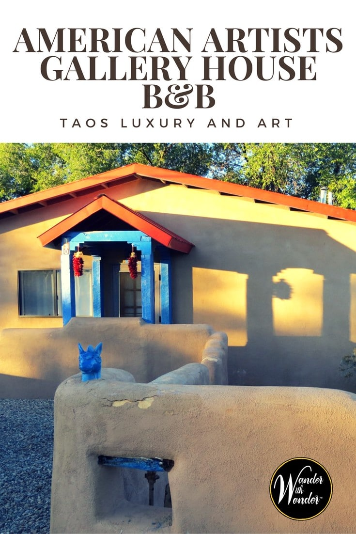 Wander Taos, New Mexico and enjoy the comforts of the American Artists Gallery House B&B. This is a quiet haven filled with quintessential Northern New Mexico charm. #Taos #NewMexico #B&B #Artists #Wander #Travel #inns