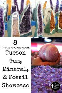 Part trade-show, retail extravaganza, museum exhibition, cultural festival, and a whole lot of retail therapy, The Tucson Gem, Mineral, and Fossil Showcase is an experience unmatched by any other. If you decide to go, and you really must, here are eight things you should know. #Tucson #visittucson #gemshow