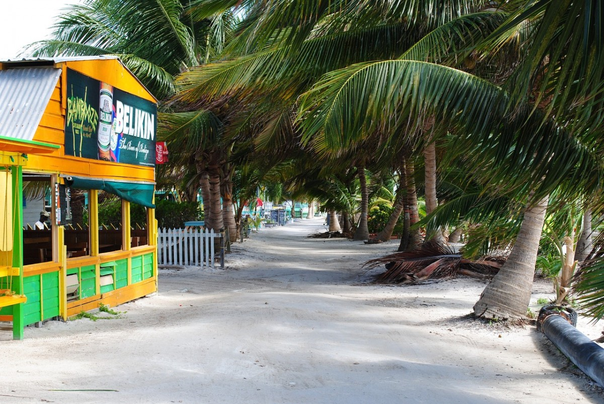 Look for Belikin Beer signs in seafood shacks along the beach when you Visit Belize