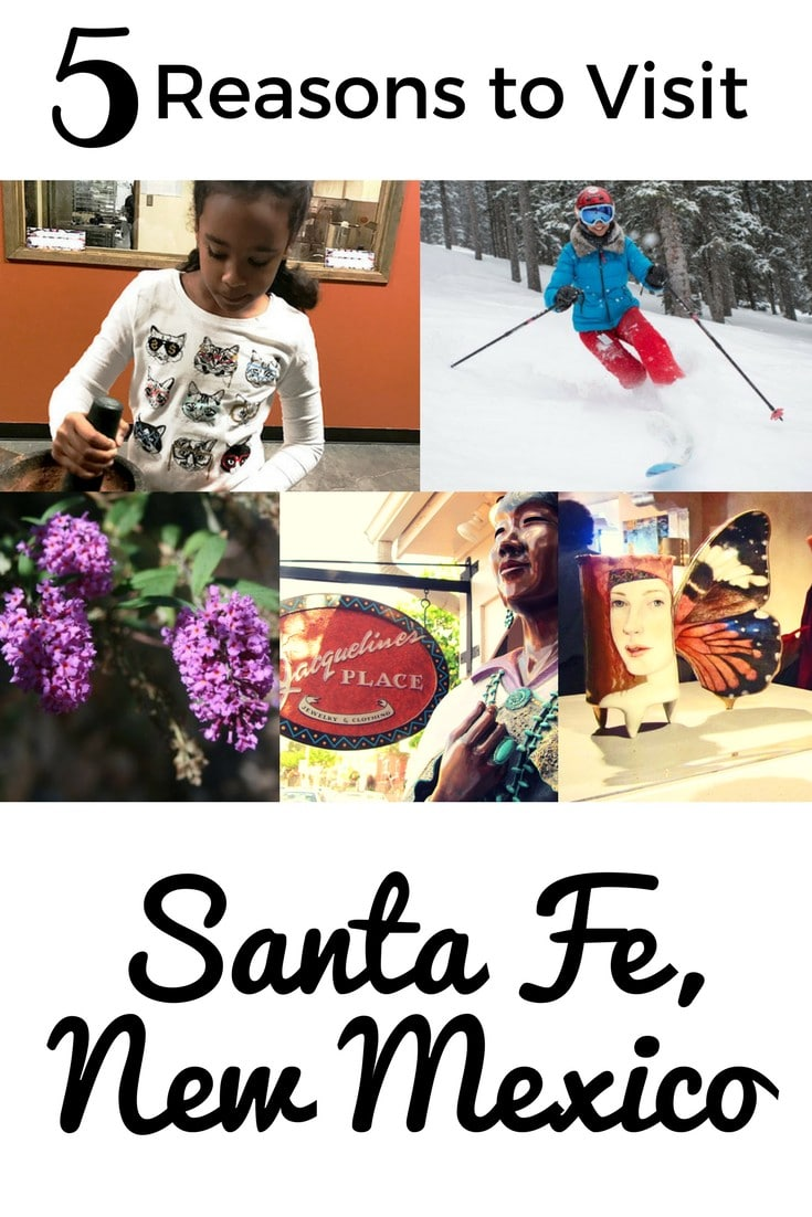 Spring is an ideal time to visit Santa Fe. The weather is enchanting, giving opportunities to ski and spot new blooms! Plus, discounts on hotel rooms and activities make it perfect for family travel. #wandernewmexico #travel #familytravel #newmexico #ski #art #kidfriendly #NewMexicotrue