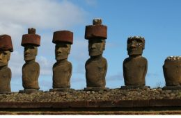 Ahu at Anakena Beach on Easter Island. Photo by Vickie Lillo
