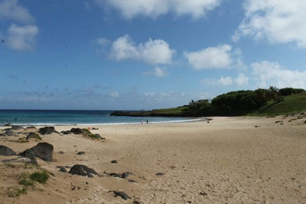 Anakena Beach on Easter Island. Photo by Vickie Lillo