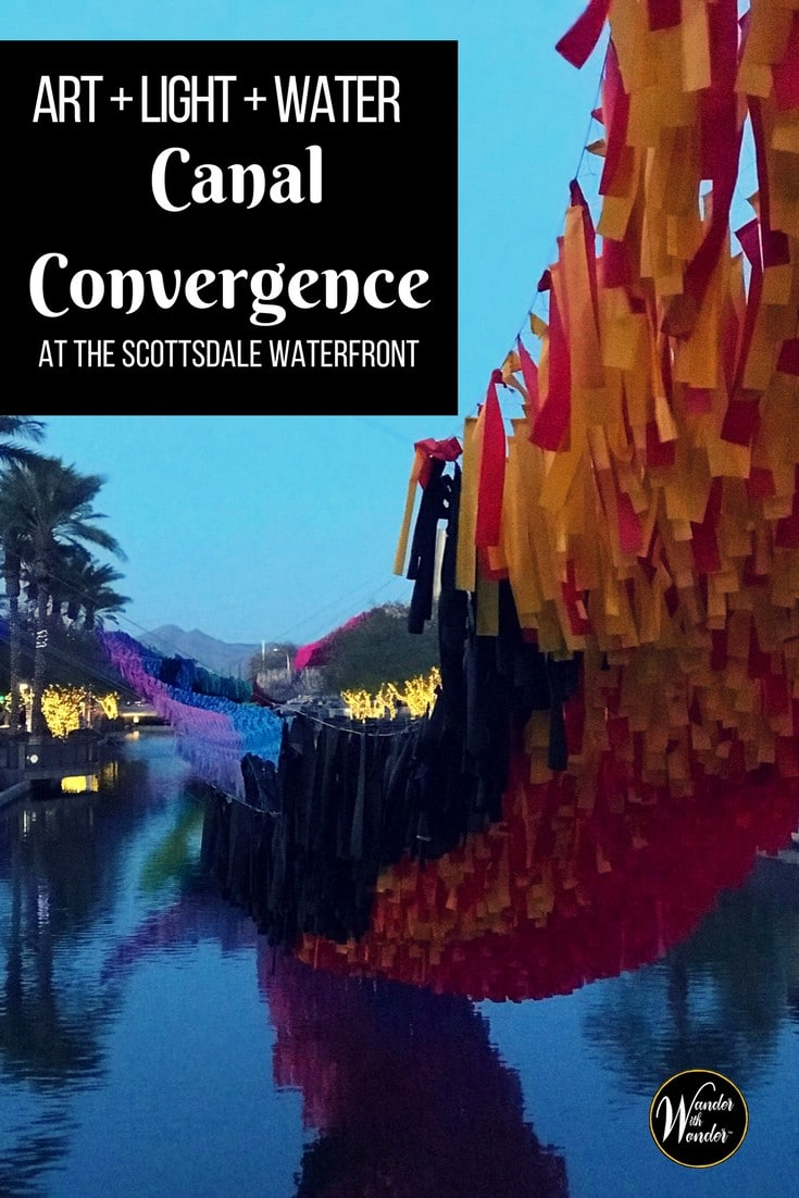 Every year the Scottsdale Waterfront comes alive with large, unique and engaging public art installations at the annual Canal Convergence. #wanderarizona #wonderwithwonder #arizona #art #scottsdale #publicart