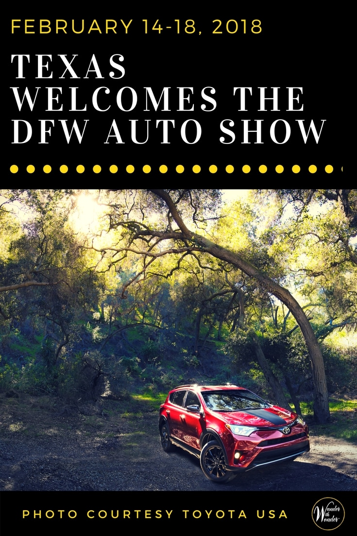 The 2018 DFW Auto Show, which will run February 14-18, 2018 at the Kay Bailey Hutchison Convention Center (650 S. Griffin in Downtown Dallas), is the place to go if you are even considering a new car. Or you just love looking at cars and trucks in a relaxing, fun atmosphere. #DFWAutoShow #Toyota #DFWLovesAutos #ToyotaDFW