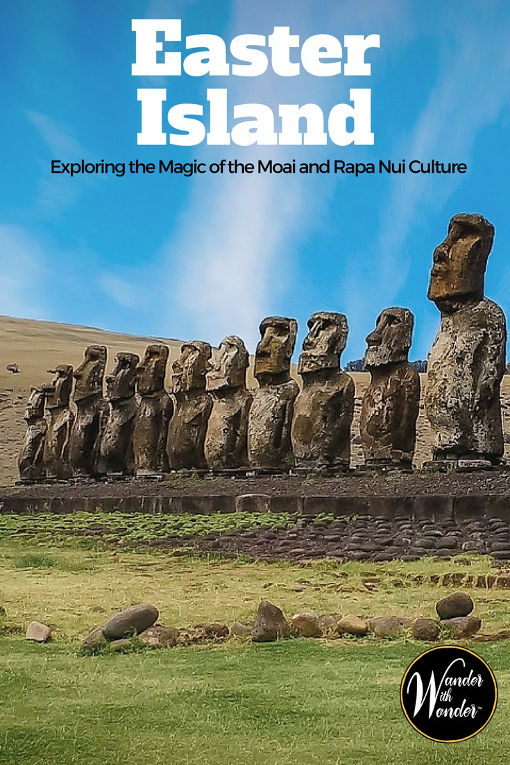 Travel to the Chilean-owned territory in the Polynesian Triangle to observe the mysterious 'heads' on Easter Island or Rapa Nui. Known as moai—in the local vernacular of the indigenous residents—these are full-bodied representations of Rapa Nui chieftains and prestigious members of the community. #EasterIsland #RapaNui #Chile #WanderWithWonder #CulturalTravel