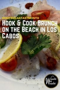 """#Relax with toes in the sand while being served the freshest brunch that @PuebloBonito in Los Cabo can offer! This #HotBreakfastMonth we venture into breakfast that is """"caliente"""" flavors. #foodie #travel #wandermexico"""
